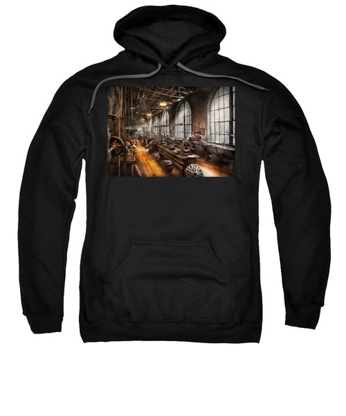 Machinist - A Room Full Of Lathes  Sweatshirt