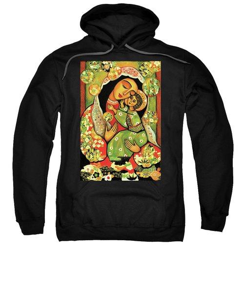 Madonna And Child Sweatshirt by Eva Campbell