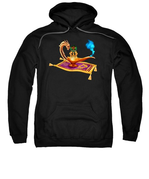 Magical Dragon Lamp Sweatshirt by Glenn Holbrook