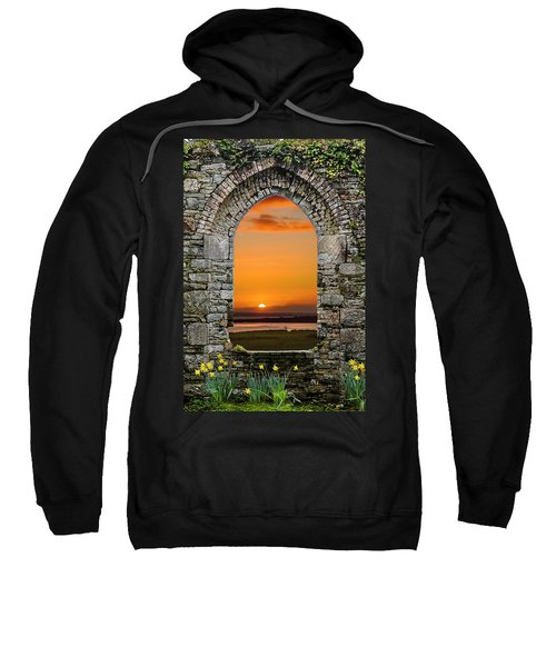 Sweatshirt featuring the photograph Magical Irish Spring Sunrise by James Truett