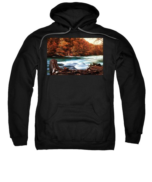 Autumnal Landscape With Lake In The Argentine Patagonia Sweatshirt
