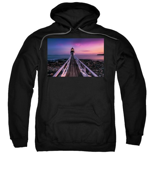 Maine Sunset At Marshall Point Lighthouse Sweatshirt