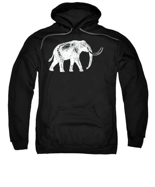 Mammoth White Ink Tee Sweatshirt by Edward Fielding