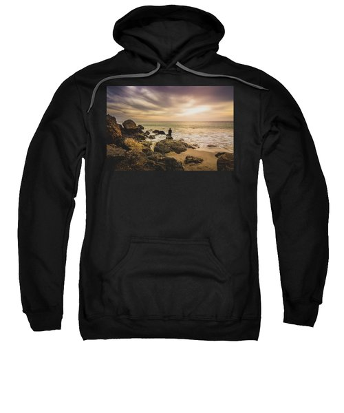 Man Watching Sunset In Malibu Sweatshirt