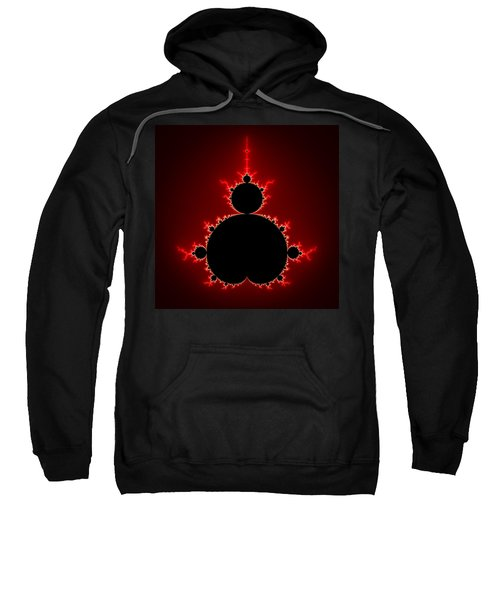 Mandelbrot Set Black And Red Square Format Sweatshirt
