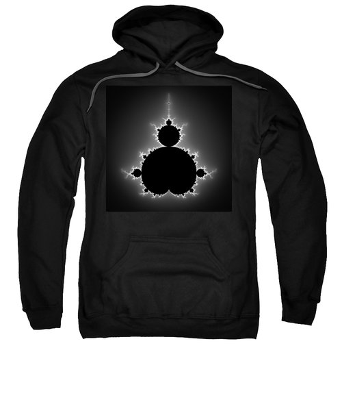 Mandelbrot Set Black And White Fractal Art Sweatshirt