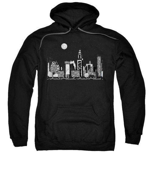 Manhattan At Night New York Swings Sweatshirt