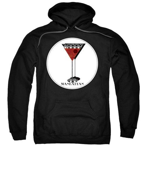 Manhattan Cocktail Pop Art Deco Sweatshirt