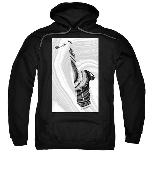 Marbled Music Art - Saxophone - Sharon Cummings Sweatshirt
