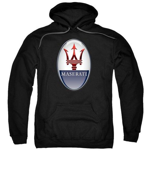 Maserati - 3d Badge On Black Sweatshirt
