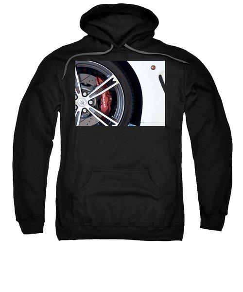 Maserati Wheel White Sweatshirt