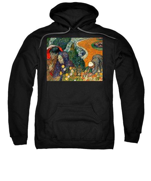 Sweatshirt featuring the painting Memory Of The Garden At Etten by Van Gogh