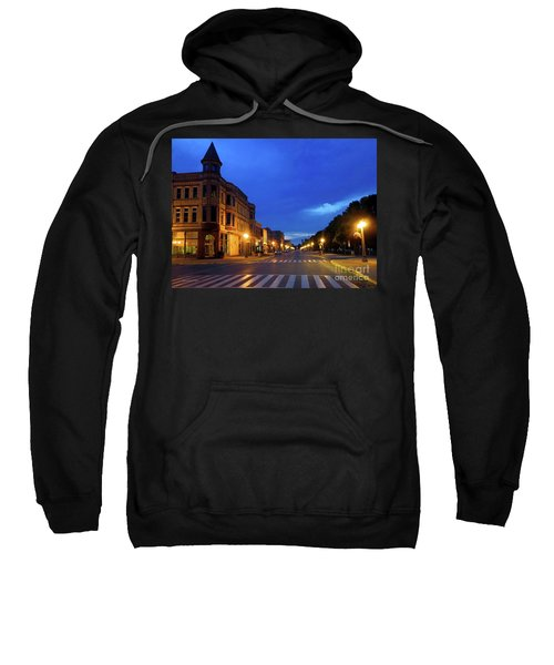 Menominee Michigan Night Lights Sweatshirt