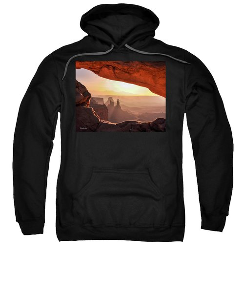 Mesa Arch At Sunrise, Washer Woman Formation , Canyonlands National Park, Utah Sweatshirt