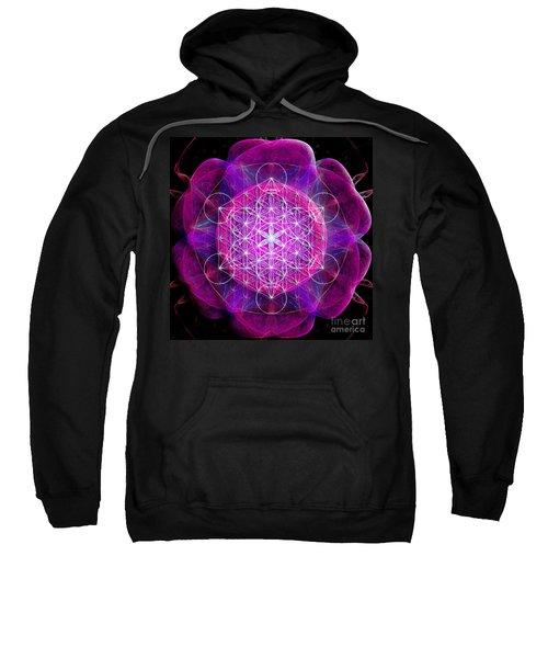 Metatron's Cube On Fractal Pletals Sweatshirt