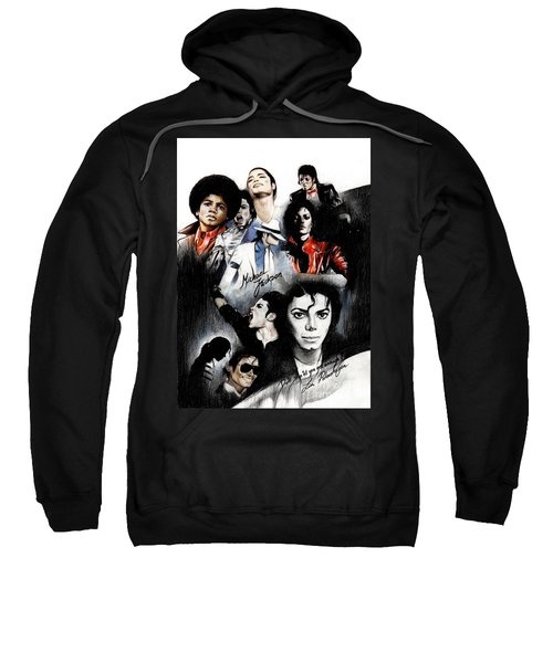 Michael Jackson - King Of Pop Sweatshirt by Lin Petershagen