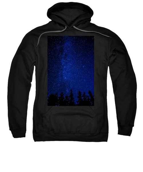 Milky Way And Trees Sweatshirt