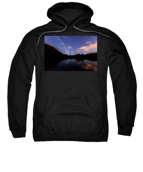 Milky Way At Snoqualmie Pass Sweatshirt