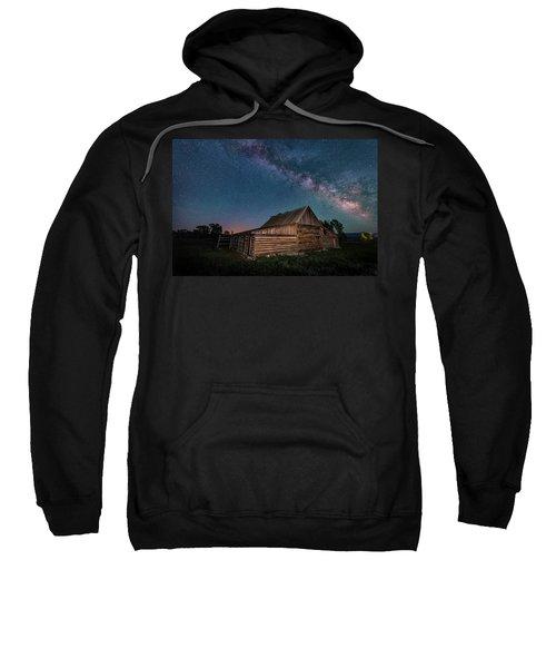 Milky Way Over Moulton Barn Sweatshirt