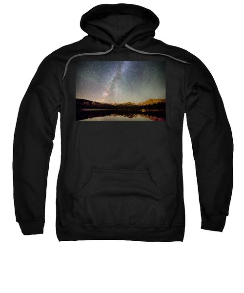 Milky Way Over The Colorado Indian Peaks Sweatshirt
