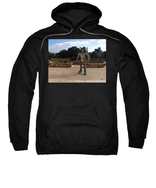 Minotaur In The Labyrinth Park Barcelona. Sweatshirt