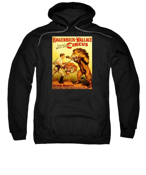Sweatshirt featuring the digital art Modern Vintage Circus Poster by ReInVintaged
