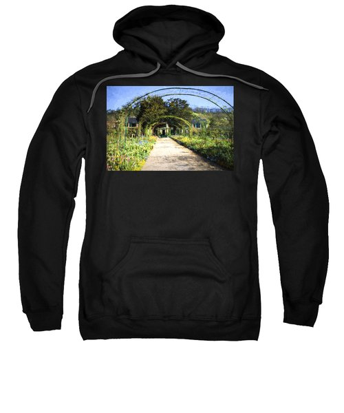 Monet House And Spring Garden In Giverny Sweatshirt