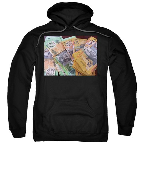 Sweatshirt featuring the photograph Money by Debbie Cundy
