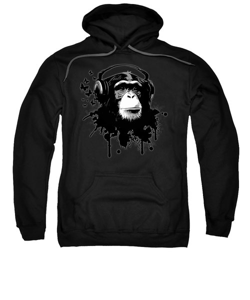 Monkey Business - Black Sweatshirt by Nicklas Gustafsson