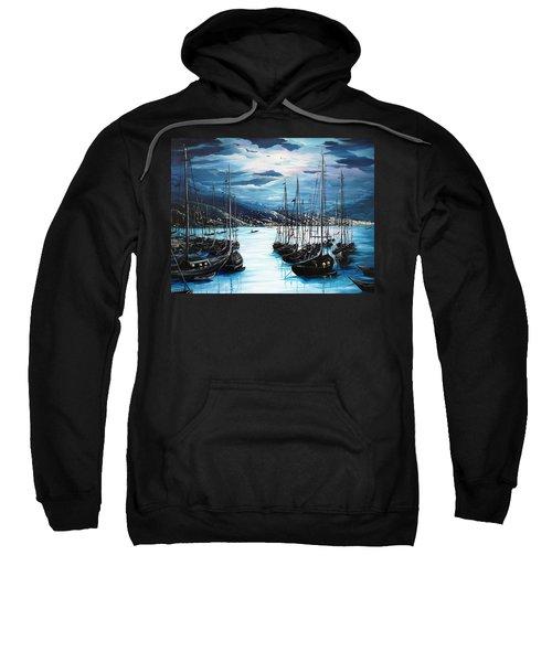 Moonlight Over Port Of Spain Sweatshirt
