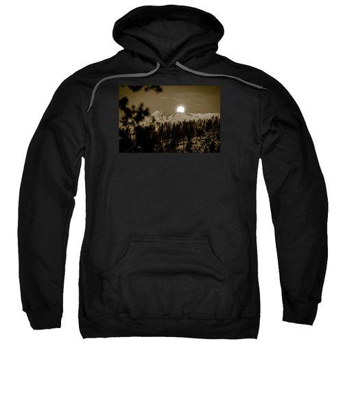 moonset over the Rockies Sweatshirt