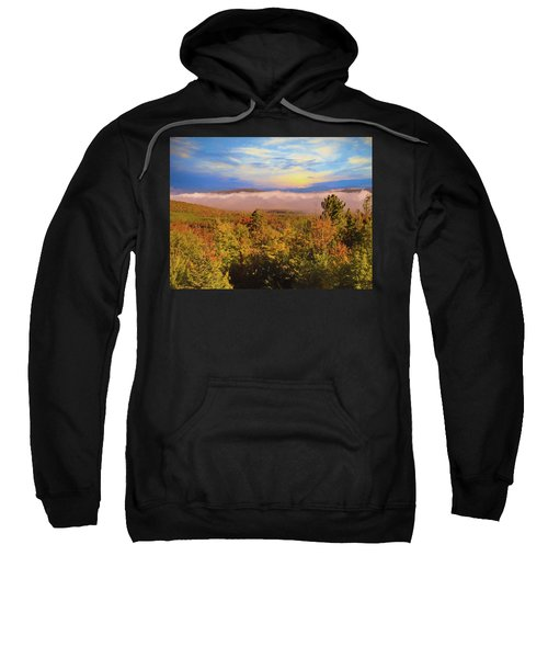 Morning Autumn Landscape Northern New Hampshire Sweatshirt