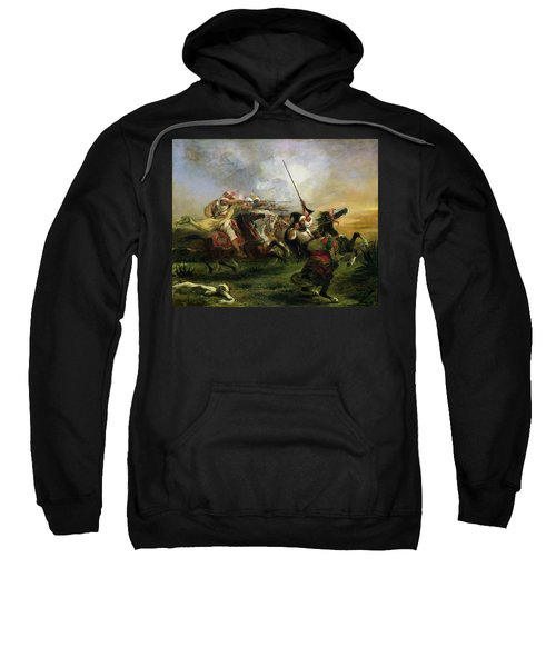 Moroccan Horsemen In Military Action Sweatshirt