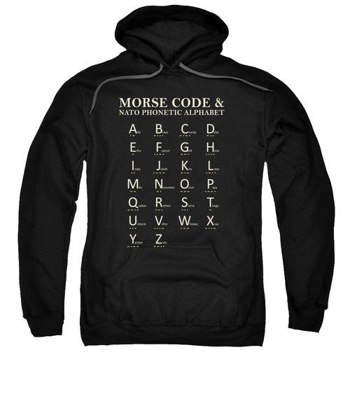 Morse Code And Phonetic Alphabet Sweatshirt