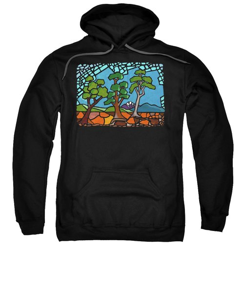 Mosaic Trees Sweatshirt by Anthony Mwangi