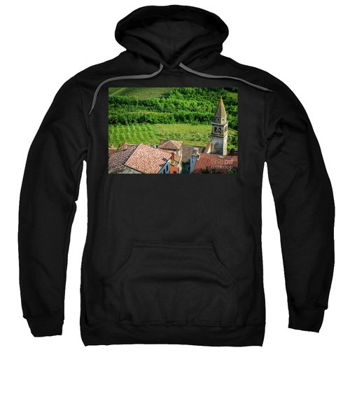 Motovun Istrian Hill Town - A View From The Ramparts, Istria, Croatia Sweatshirt