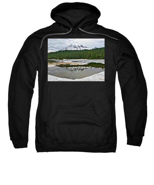 Mount Rainier From Reflection Lakes Sweatshirt