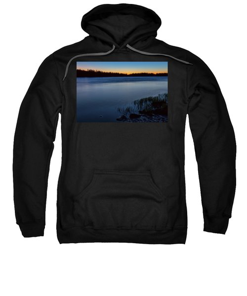 Sweatshirt featuring the photograph Mountain Lake Glow by James BO Insogna