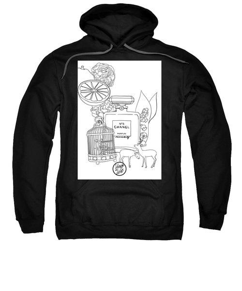 Sweatshirt featuring the digital art N0.5 by ReInVintaged