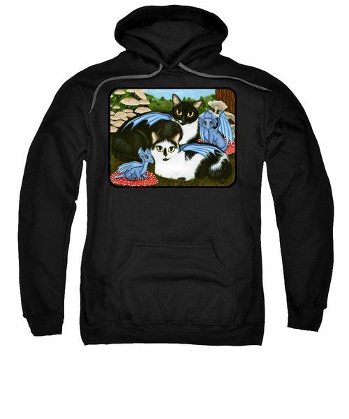Nami And Rookia's Dragons - Tuxedo Cats Sweatshirt