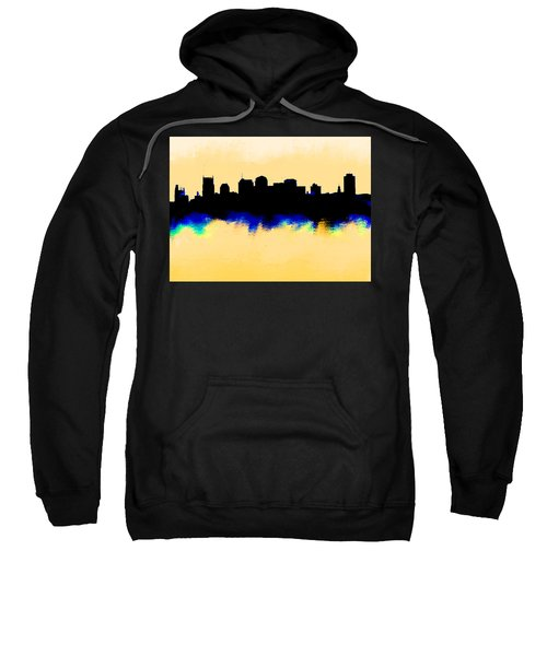 Nashville  Skyline  Sweatshirt by Enki Art