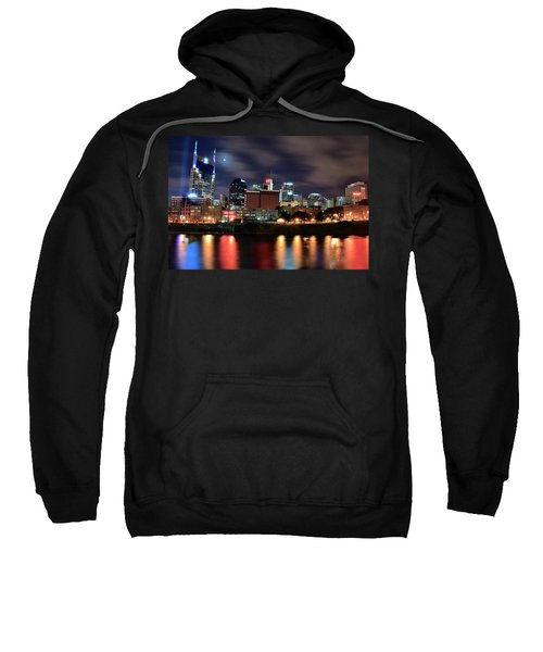 Nashville Skyline Sweatshirt by Frozen in Time Fine Art Photography