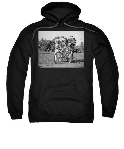 Native Americans With Bicycle Sweatshirt