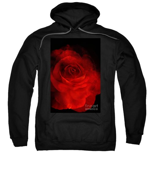 Sweatshirt featuring the photograph Natures Flame by Stephen Mitchell