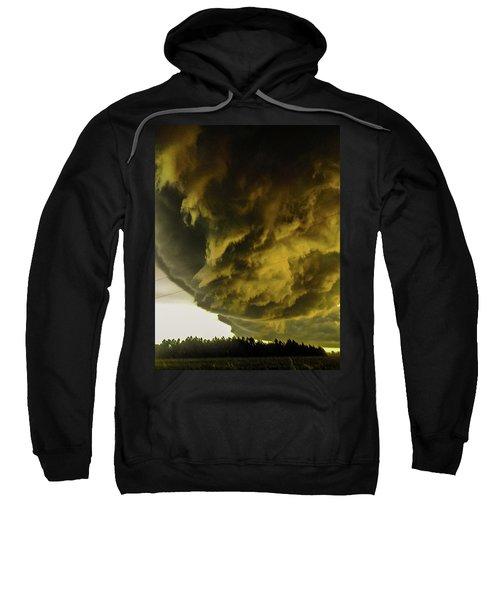 Nebraska Supercell, Arcus, Shelf Cloud, Remastered 018 Sweatshirt