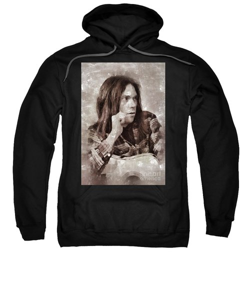 Neil Young By Mary Bassett Sweatshirt