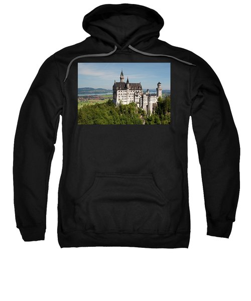 Neuschwanstein Castle With Village Sweatshirt