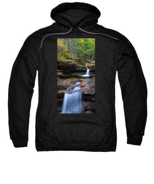 New Hampshire Sabbaday Falls Panorama Sweatshirt