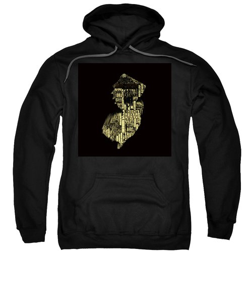 New Jersey Typographic Map 4f Sweatshirt