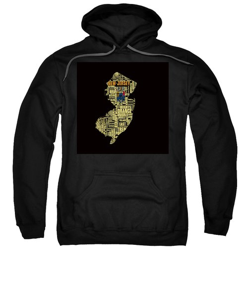 New Jersey Typographic Map 4g Sweatshirt